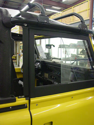 Defender 90 Soft Top With Safety Devices Roof Rack