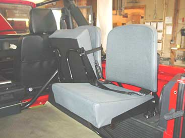 Here You Can See We Have Completed The Install Of New Rear Jump Seats With Seat Belts To Make This 90 Be Able Handle As Many People Possible