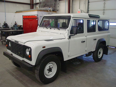 Defender 110 300 Tdi to 4 6 V8 conversion