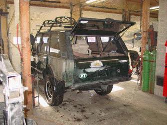 range rover classic tailgate skin