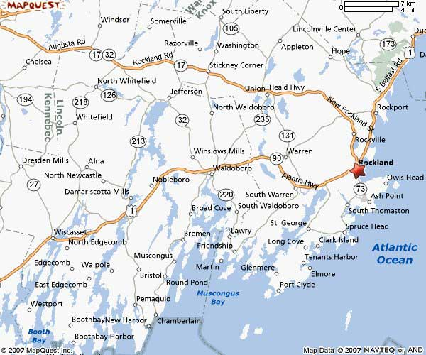 ECR New England Map - Map of eastern maine